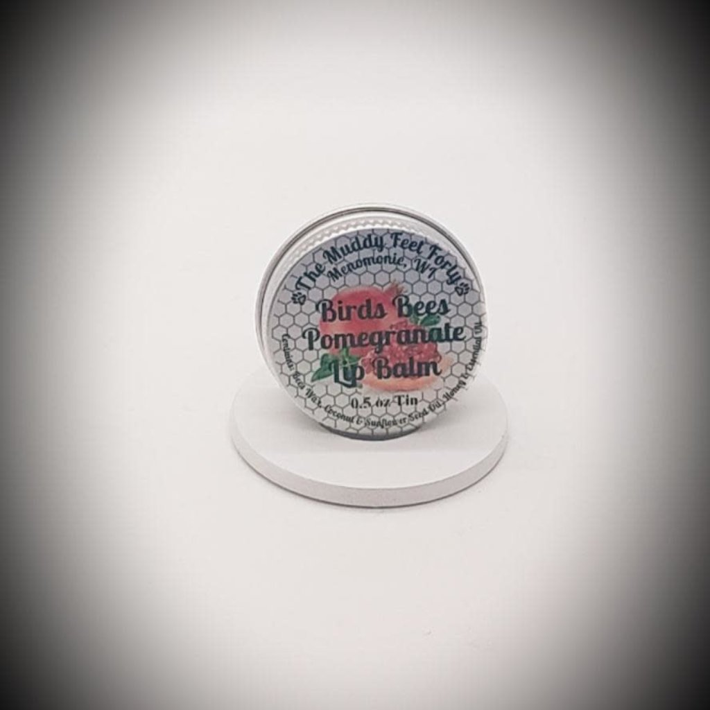 The Muddy Feet Forty Lip Balm Tin - Pomegranate