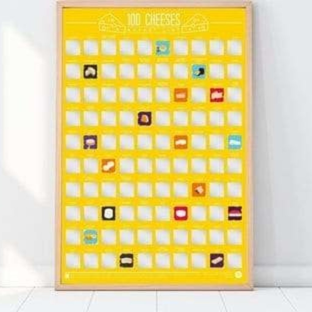 Volume One Bucket List Poster - 100 Cheeses