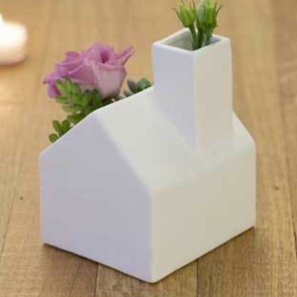Volume One Planter - Mini Cottage/Cabin (White)