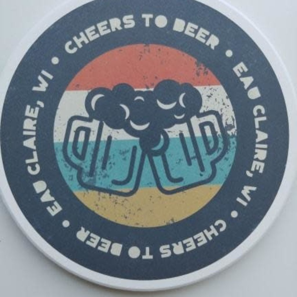 Volume One Round Coaster - Cheers to Beer (Eau Claire, WI)