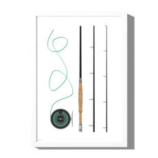 Roo Kee Roo Fishing Pole Print
