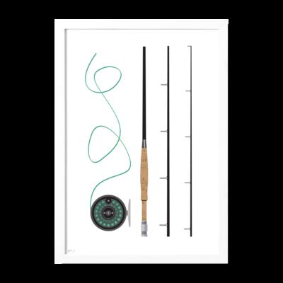 Roo Kee Roo Fishing Pole Print