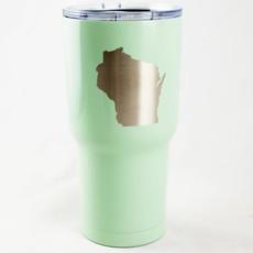 Iverson Custom Coatings Wisconsin Tumbler - Mint w/ Star