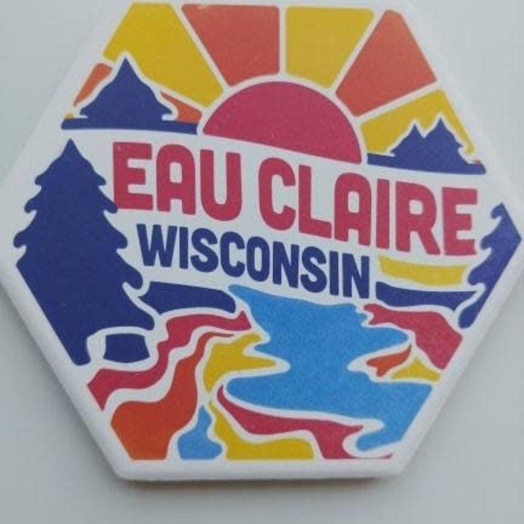Volume One Hex Coaster - Eau Claire Colorful