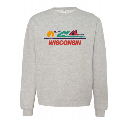 Volume One Crewneck - Wisconsin License Plate