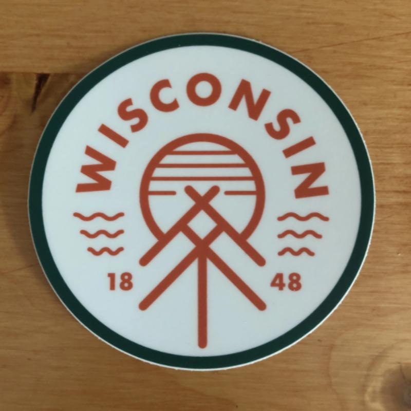Giltee MKE Wisconsin Native Sticker