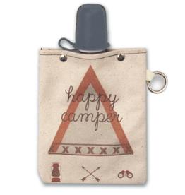 Volume One Canvas Flask - Happy Camper 8oz