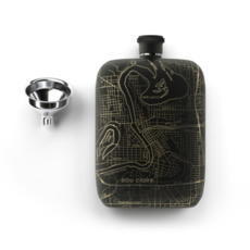 Volume One Flask - Eau Claire Map