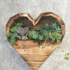 Mill Creek Gardens (WI) Heart Shaped Succulent Planter