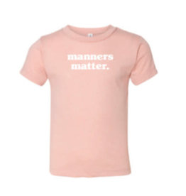 Up North Clothing Toddler Tee - Manners Matter