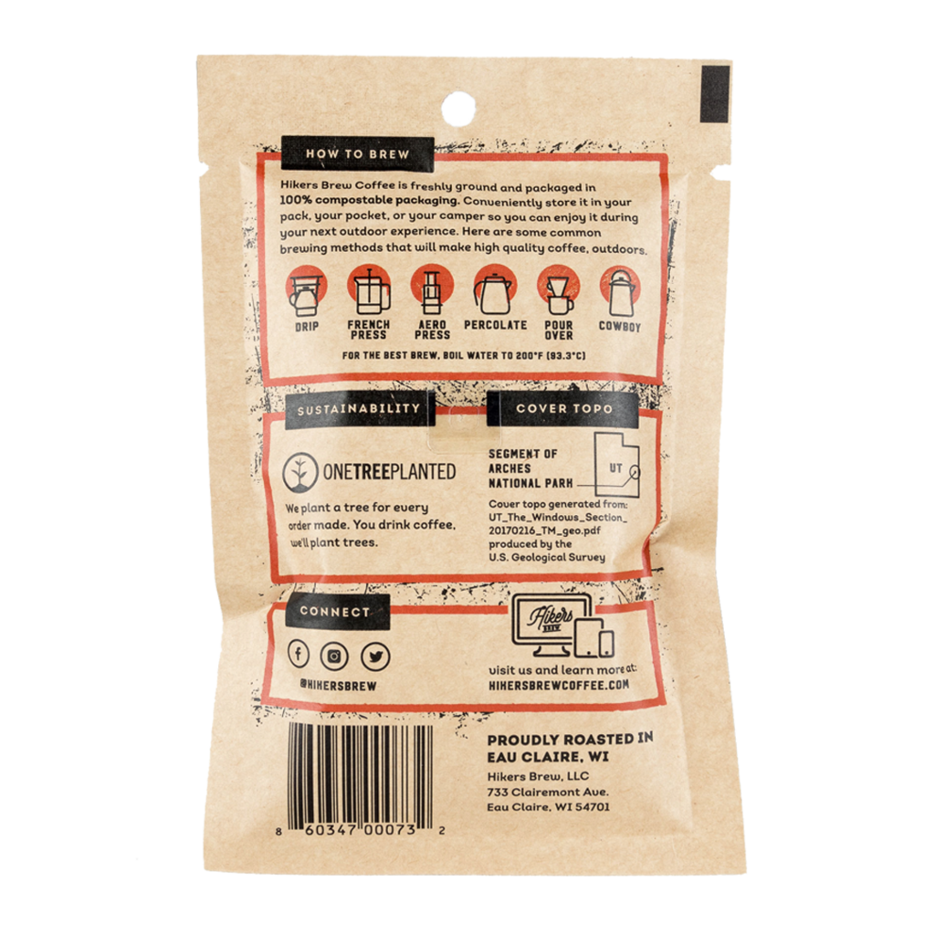 Hikers Brew Coffee Venture Pouch - Red Rocks