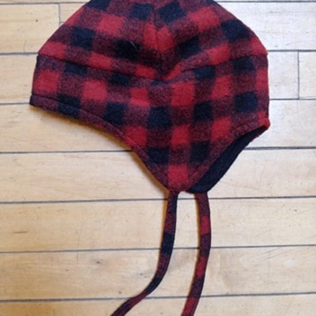 Flap Hat - Red Buffalo , Medium