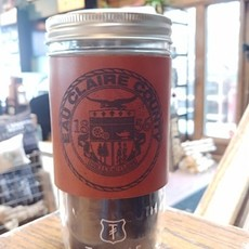 Tactile Craftworks Leather Travel Mug - Eau Claire County Seal (24 oz.)