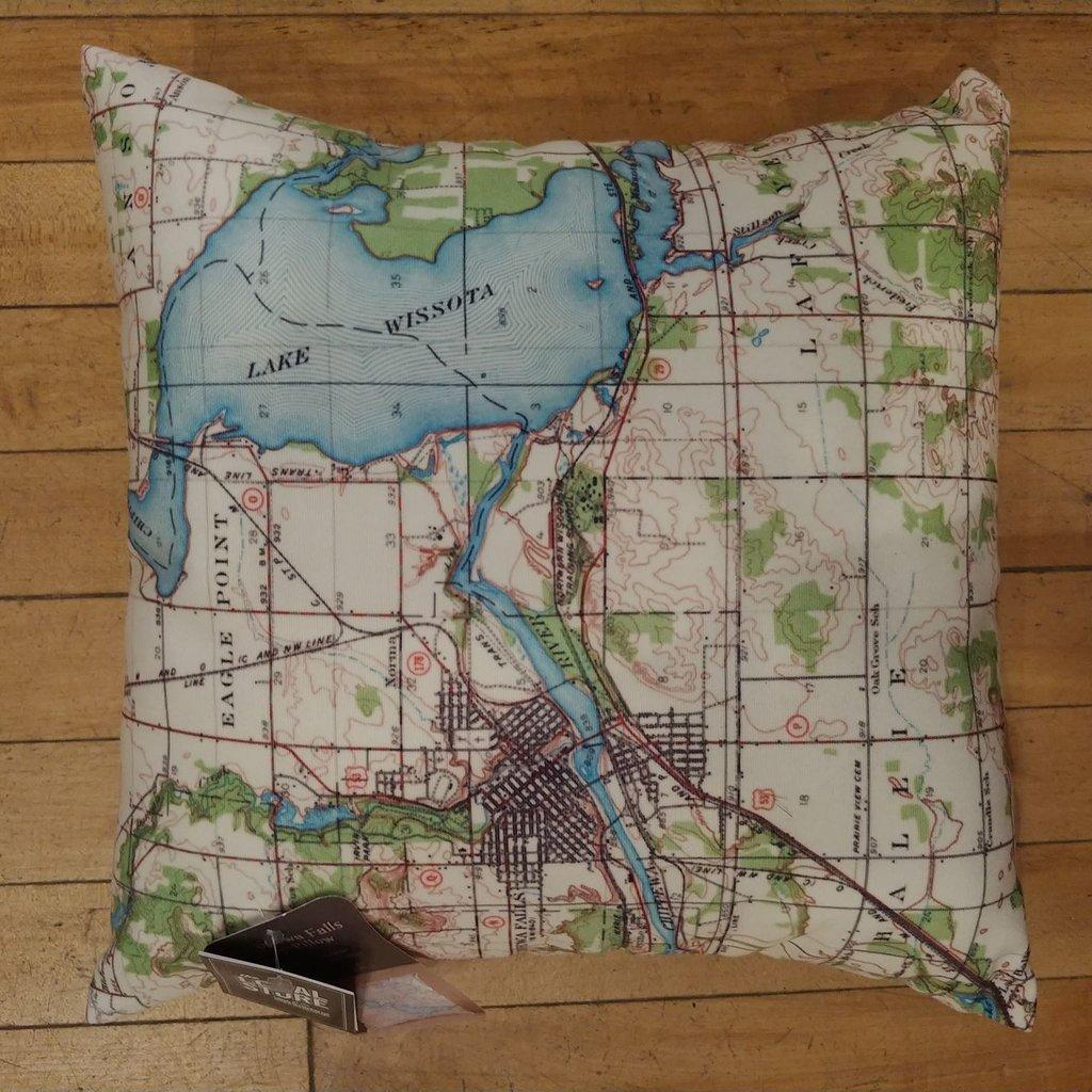 Volume One Lake Wissota Map Pillow