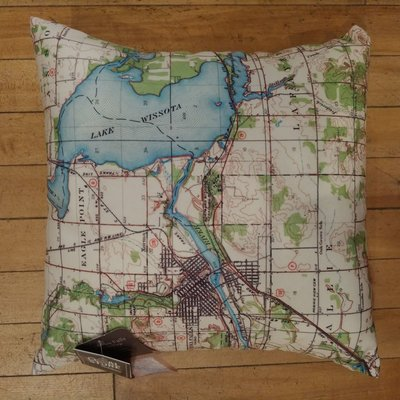 Volume One Lake Wissota Map Pillow