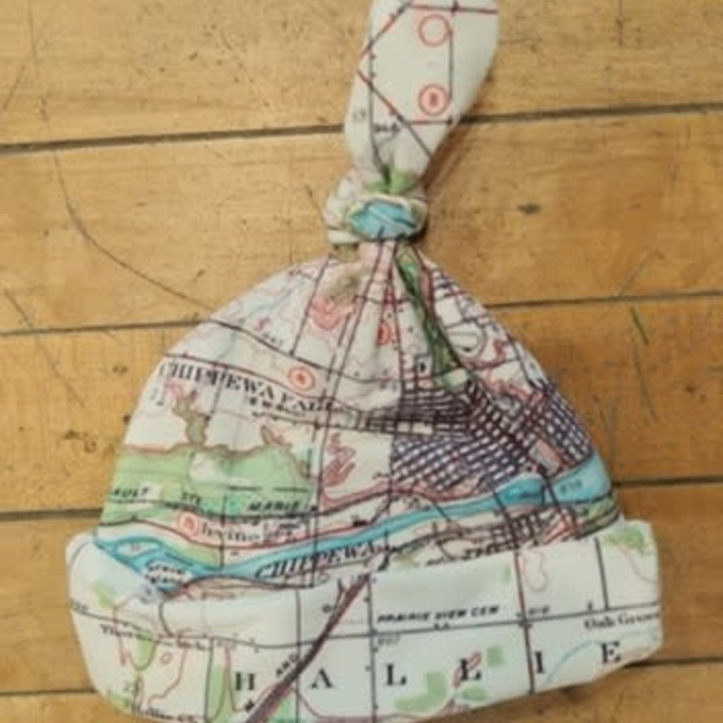 Volume One Baby Beanie - Lake Wissota Map