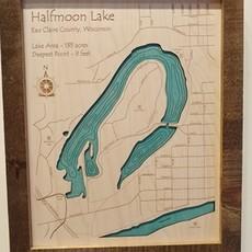 Framed Art - Half Moon Lake (11x14)