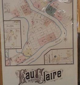 UWEC Geography Dept. 8X10 Print-Eau Claire 1885