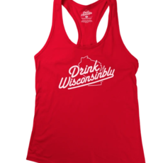 Drink Wisconsinbly Drink Wisconsinbly Tank Top (Red)