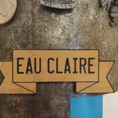 Tree Hopper Toys Magnet - Eau Claire Banner (Wood)