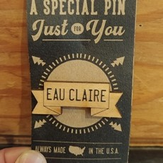 Tree Hopper Toys Lapel Pin - Eau Claire Banner (Wood)