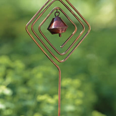 Volume One Garden Stake - Diamond W/Bell