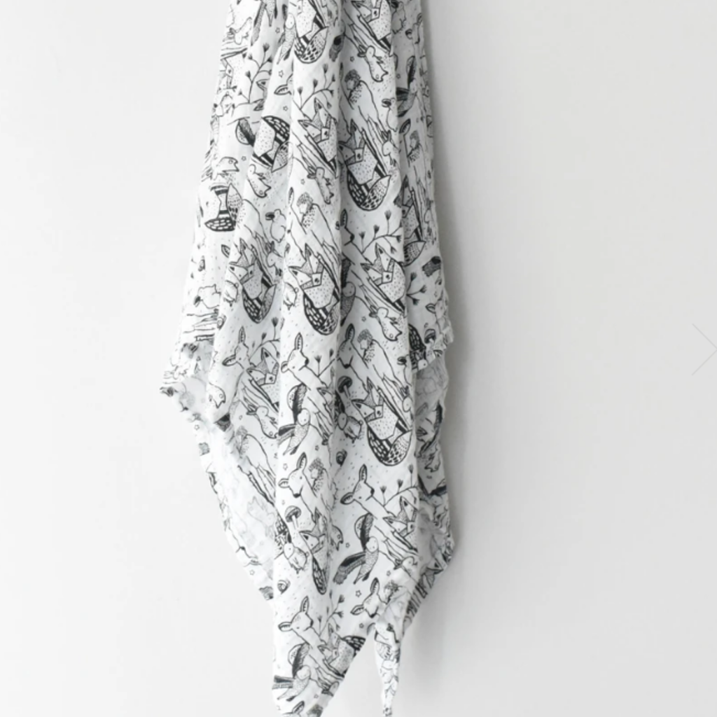 Volume One Muslin Swaddle - Forest