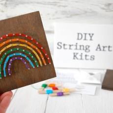 Strung on Nails DIY String Art Kit - Rainbow
