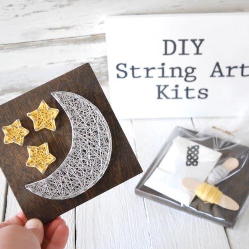 Strung on Nails DIY String Art Kit - Moon & Stars