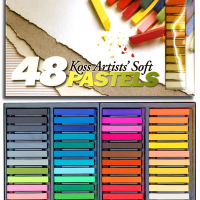 Volume One Koss Artists' Soft Pastel Chalks - 48 Colors