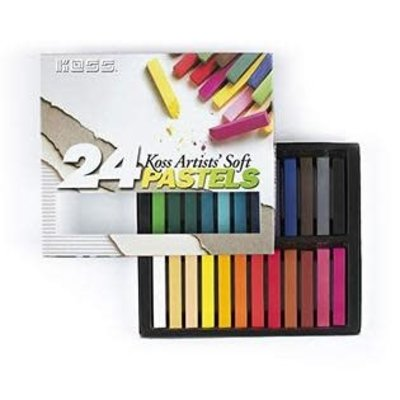 Volume One Koss Artists' Soft Pastel Chalks - 24 Colors