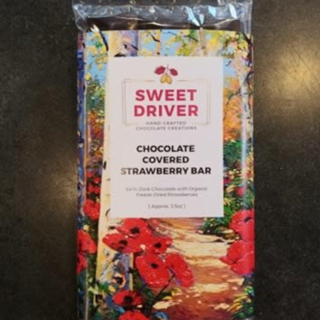 Sweet Driver Chocolates Dark Choc. Covered Strawberry Bar