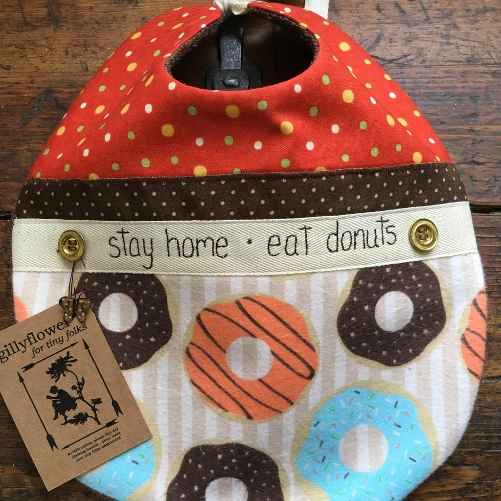 Deb Christenson Bib - Stay Home, Eat Donuts