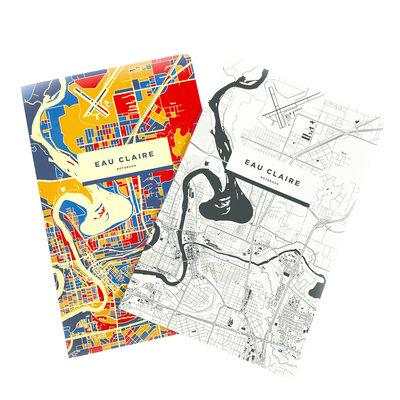iLikeMaps Notebook - Eau Claire Map (Colorful)