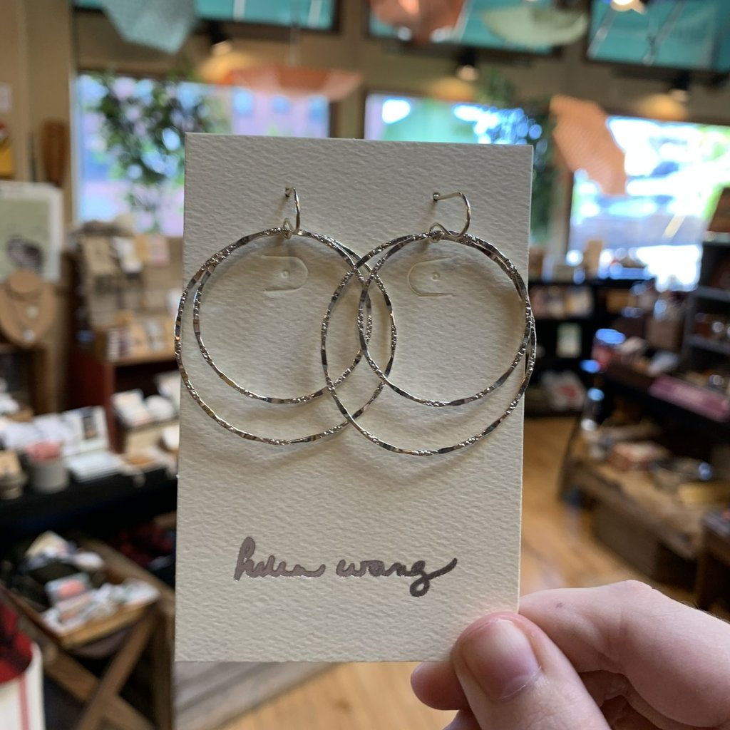 Helen Wang Jewelry Earrings - Hammered Sterling Silver Circles