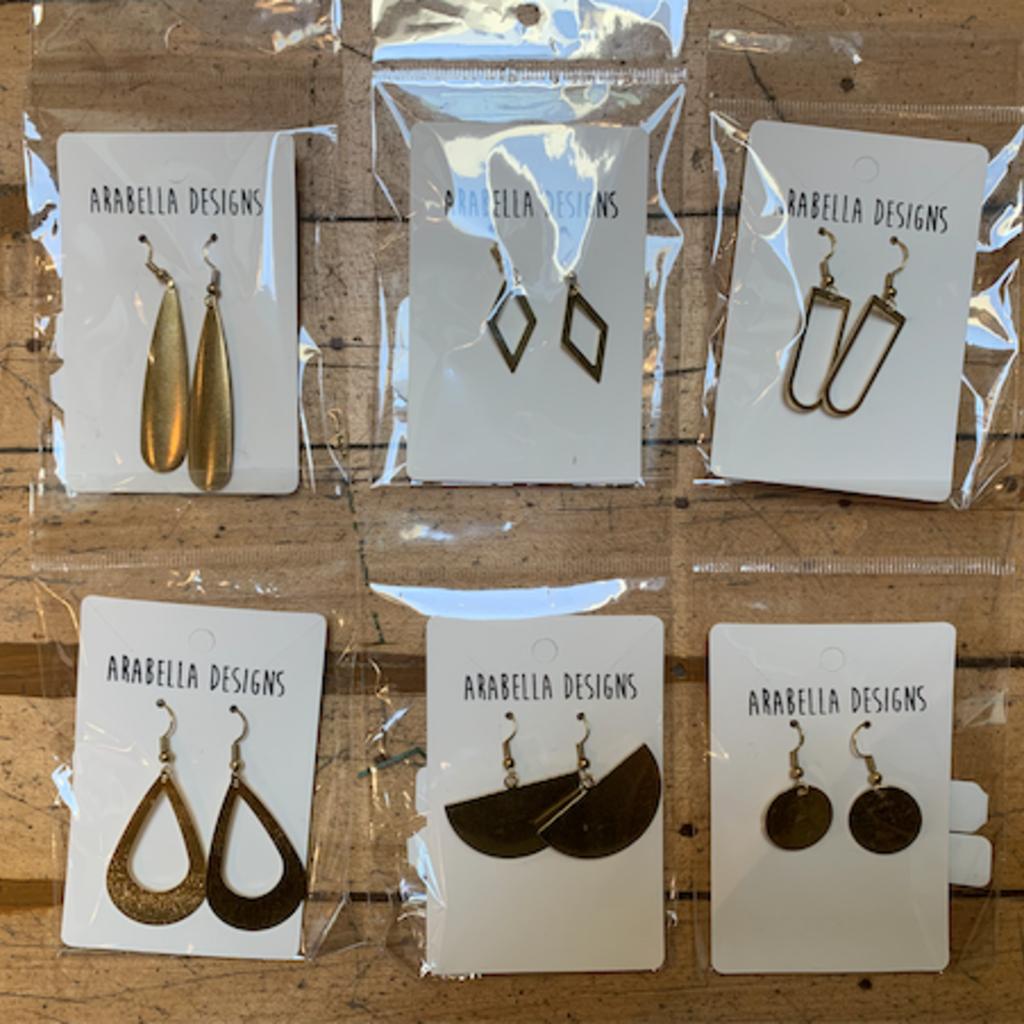 Arabella Designs Brass Earrings - Assorted
