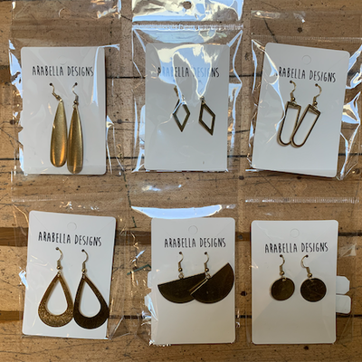 Arabella Designs Brass Earrings - Assorted