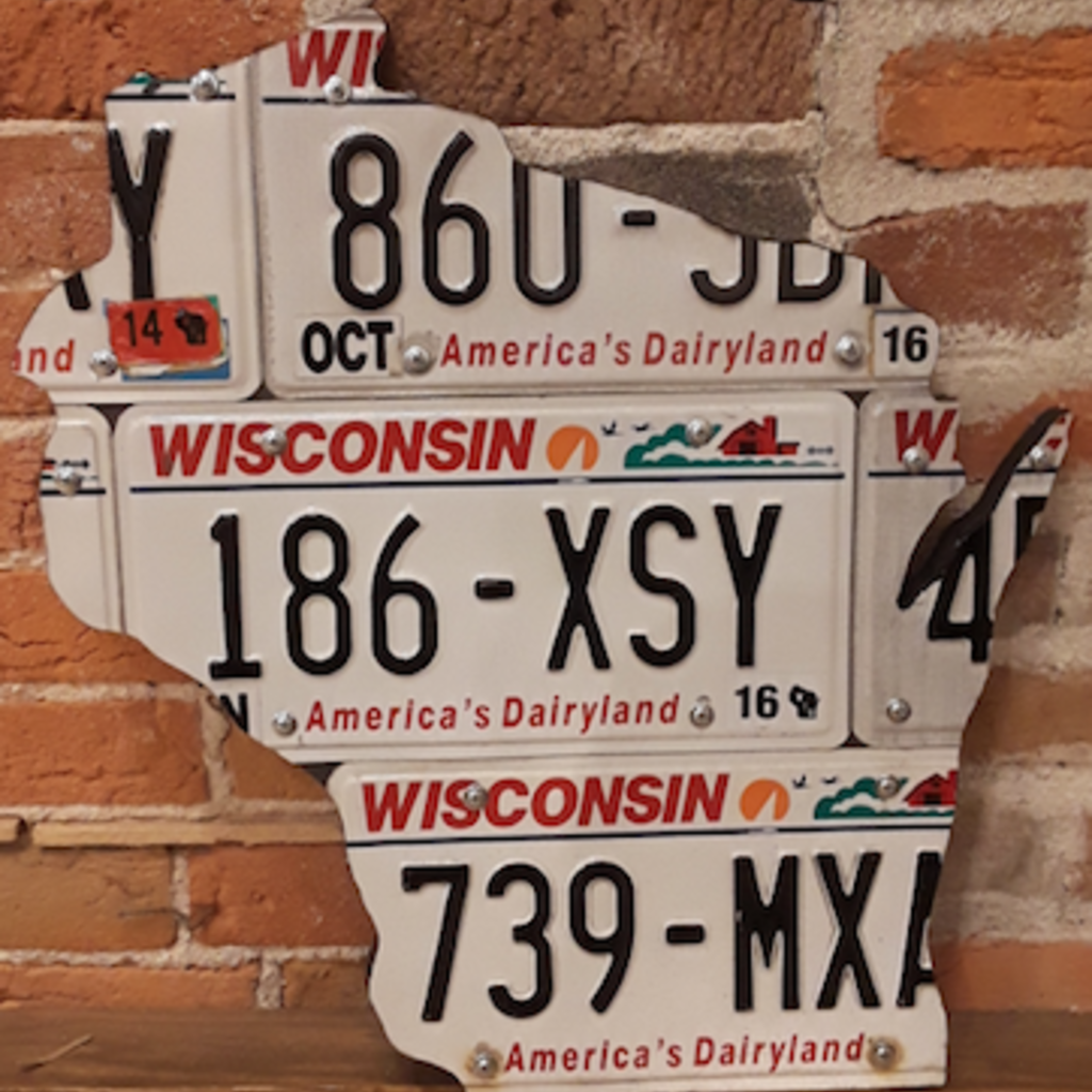 Chris Staack WIsconsin License Plate Sign - Medium