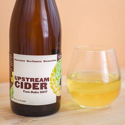 Upstream Hard Apple Cider - Two Oaks