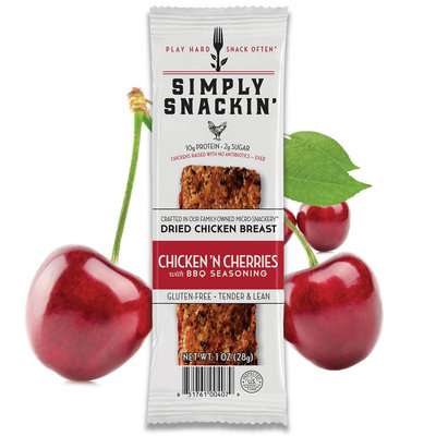 Simply Snackin' Protien Jerky Snack - Chicken n Cherries