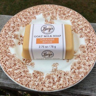 Lucy's Goat Milk Soap Lucy's Goat Milk Soap - Orange Spice Handbar