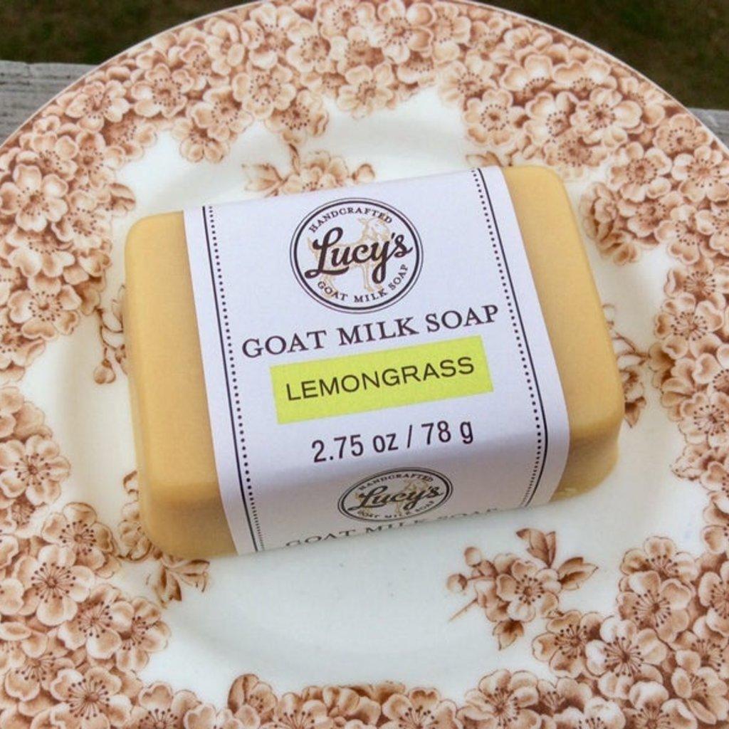 Lucy's Goat Milk Soap Lucy's Goat Milk Soap - Lemongrass Handbar