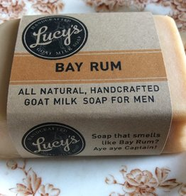 Lucy's Goat Milk Soap Lucy's Goat Milk Soap - Bay Rum Handbar