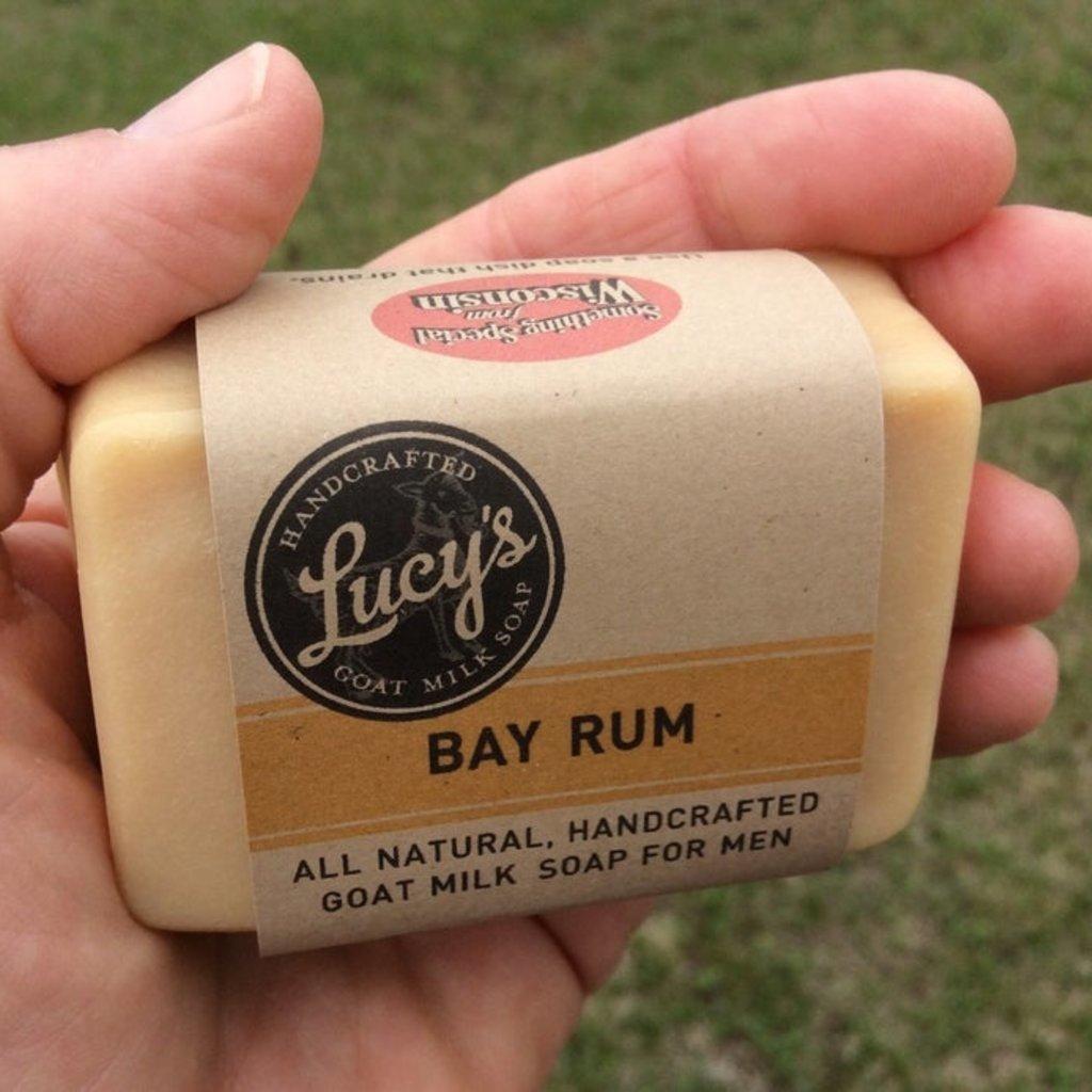 Lucy's Goat Milk Soap Lucy's Goat Milk Soap - Bay Rum Handbar