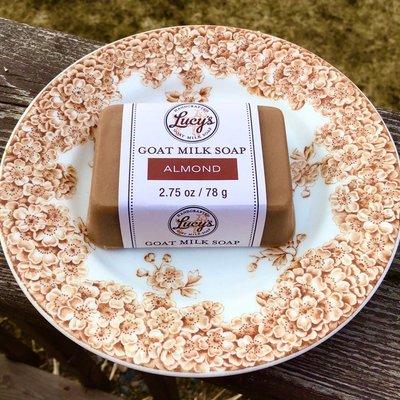 Lucy's Goat Milk Soap Lucy's Goat Milk Soap - Almond Handbar