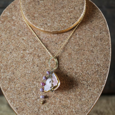 Helen Wang Jewelry Necklace - Pink Drusy