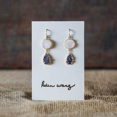 Helen Wang Jewelry Earrings - 14k Gold Leafed Drusy