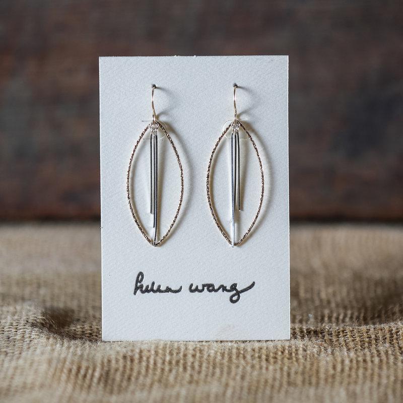 Helen Wang Jewelry Earring - Marquise Silver Fringe