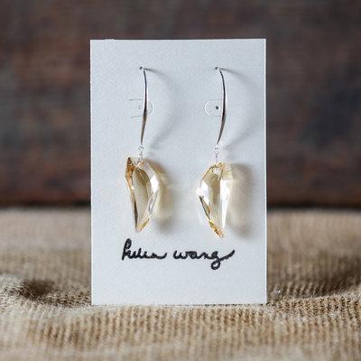 Helen Wang Jewelry Earring-Argentium Smoke Swaroskii Crystal
