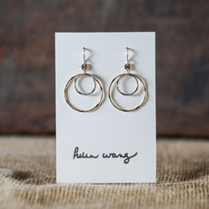 Helen Wang Jewelry Earring - Gold and Silver Paillette Circles